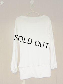 画像2: にこちゃん長袖白Tシャツ リボン付き♥